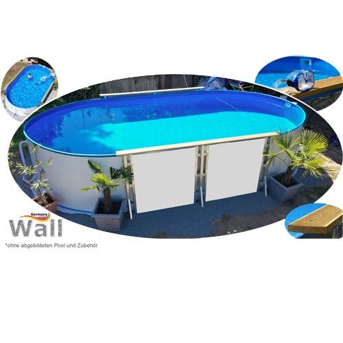 Ovalpool freistehend 8,00 x 4,00 m Germany-Pools Wall