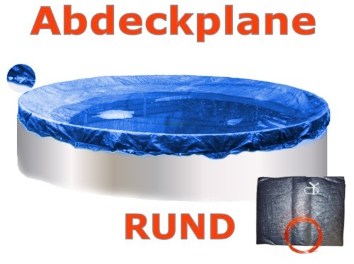 Pool Abdeckplane 8,0 m Poolabdeckung 800 Winterplane rund 8,00
