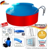 4,70 x 3,00 x 1,25 m Achtform-Swimmingpool Set Achtform-Pool
