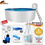 Alupool 420 x 125 Komplettset Aluminium-Pool