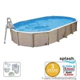 Aufstellpool 7,3 x 3,6 x 1,32 m Center Pool oval freistehend
