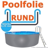 Ersatzfolie rund 450 - 460 x 92 cm 0,25 Poolfolie Innenfolie