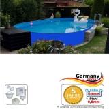 Ovalpool Blau 500 x 300 x 125 cm