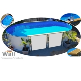 Ovalpool freistehend 6,15 x 3,00 m Germany-Pools Wall