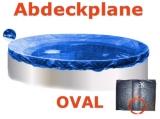 Pool Abdeckplane 7,3 x 3,6 m Poolabdeckung Winter 730 x 360
