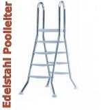 Poolleiter Edelstahl 120 122 Hochbeckenleiter Schwimmbadleiter