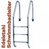 Schwimmbadleiter 3 Stufen Poolleiter Edelstahl Einbau-Pool