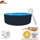 Stahl-Pool 2,0 x 1,25 m Anthrazit