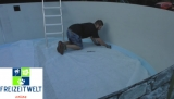 6,25 x 3,0 Pool Hohlkehle bis 7,3 x 3,6 m Ovalpool