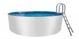 Alupool 730 x 125 Komplettset Aluminium-Pool