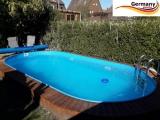 Ovalpool Blau 530 x 320 x 125 cm